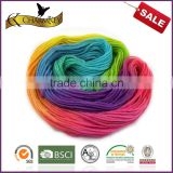 Hot sale space dyed wool/nylon blend yarn for hand knitting with good quality