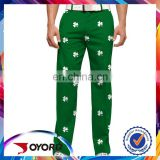 Made in China cheap top quality custom sublimation printing golf pants for men