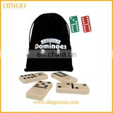 Plastic customized double 6 travel domino game set