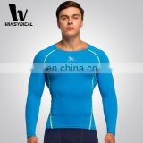 Pro Men Compression Long-sleeve Shirts Custom Brand Logo For Running Fitness Wear Wholesale