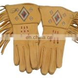 Brown Leather Polo Gloves