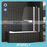 180 DEGREE PIVOT 6mm GLASS DOUBLE OVER BATH SHOWER SCREEN BL-038                                                                         Quality Choice