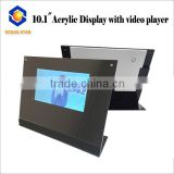 10 inch Promotion gift video greeting card with desktop acrylic display stand to advertise your products all day