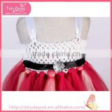 Knee High wholesale rockabilly clothing fluffy voile girl's dress children frocks designs