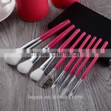 8 pcs/set New naked 3 makeup brushes professional Cosmetic Facial Makeup Brush Kit set with nake PU cylinder