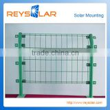 Hot dip galvanized metal iron steel solar pv energy power plant solar panel racking safety fence