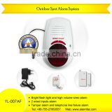 House safety equipment Wireless Outdoor siren alarm with Magnectic Door gap contact sensor