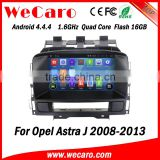Wecaro WC-OU7882 Android 4.4.4 car dvd player quad core for opel astra j multimedia audio system bluetooth 2008-2013