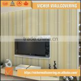 Professional Manufacturer Eco-Friendly Classic Stripe Style Style PVC Material Panel Effect Wallpaper