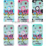 Customized cell Phone case Manufacturers For Apple ipod Touch6 floral flower design Cover