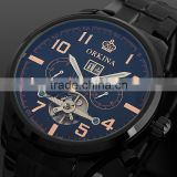 Black Tourbillon Mechanical Watch WM372 Teenage Fahion Watches