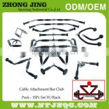 15 Piece Cable Attachment Club Pack With Rack&Cable attachment&Straight Bar with revolving hanger