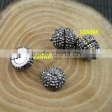 LFD-00C2 Wholesale DIY Round Shape Pave Rhinestone Crystal Magnetic Clasp Bracelets Jewelry Making