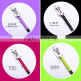 Wired Selfie Stick Handheld Built-in Shutter Extendable with Fold Holder For iPhone Samsung Smartphone Any Phones Camera
