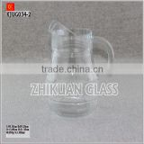 Glass Juice Jug with handle:Glass water Flask;Glass canteen set