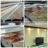 Popular best selling imitation marble wall board for decorative interior wall board from China