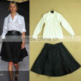 New fashion dress runway western style 2014 long white shirt+hollow out skirt fashion women dress wholesale L17072