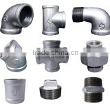 black galvanized wing holes Flange malleable cast iron pipe fittings