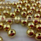 Top Quality Bulk bling chunky loose beads, acrylic glod-Plating ccb beads for necklace ,wholesale!!