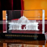 Beautiful 3d laser engraved crystal block, 3d laser crystal awards and trophies, crystal award                                                                         Quality Choice