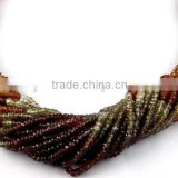 "1 Strands Natural Tundra Sapphire Faceted Rondelle Gemstone 3-3.5mm Loose Beads,Necklace Making Gemstone 12.5"" Long"