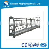 Steel suspended working platform ZLP800 / facade cleaning cradle / high rise building maitenance gondola