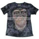 men's discharge youth diacharge printing monkey t shirts