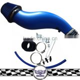 Universal plastic intake tube, blue/red cold air intake kits