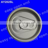 202(52mm) round full aperture aluminium beer can easy open end                                                                         Quality Choice
