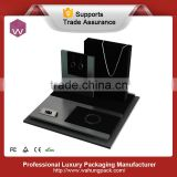 Black Acrylic Jewelry Display Case With Assembling Board For Jewel Shop