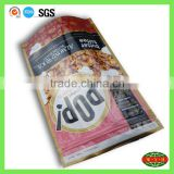 lamination material stand up pouch , grocery packing food grade moisture proof zipper bag