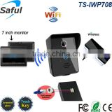 Mutiple users of smartphone/ tablet wireless video door phone TS-IWP708 villa wifi video intercom system