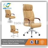 good quality cheap price leather high back black/brown fancy office chair GAC068C