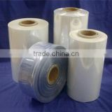 pvc semi tube shrink film/label print pvc shrink film /pvc heat shrink film/color pvc printing shrink film manufacture