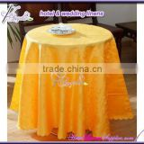Banquet jacquard linen table cloths for table decorations in banquets, events