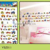 children DIY home decor 3D vinyl pvc removable wall sticker/cars wall sticker eco-friendly non-toxic