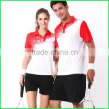 Newest fashionable badminton jersey uniforms sets,wholesale badminton wear wholesale badminton jersey