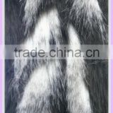 65mm long pile fake fur fabric poly Acrylic jacquard fabric tip print artificial thick fabric for making clothes