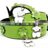 Leather bandana pet collar dog fashion party collar