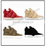 white slip on no brand custom women high top sports dance sneakers shoes 2016