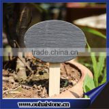 Chinese high quality black natural slate stone garden plant marker