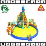 used water park slides with swimming pool kids playground water park equipment prices for sale