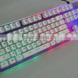 Glass backlit keyboard with floating keycaps