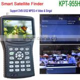 "DIHAO New 4.3"" HD Professional Sat Finder Satellite Meter HD kpt 955H, Satellite finder factory supplier"
