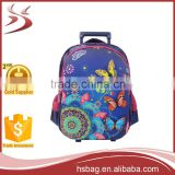 3D Fashionable Trolley School Bags For Girls,Kids Luggage Bag,Lovely School Bag With Wheels