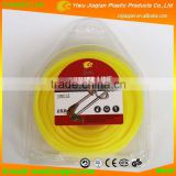 Garden Grass Line 3.0X0.5LB Round Shape Light yellow Colored Nylon Grass Trimmer Line With Donuts Blister