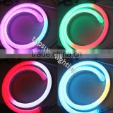 50meter spool 24v dynamic digital rgb led neon tube flex multi-color