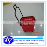 folding supermarket shopping plastic basket with wheels                                                                         Quality Choice