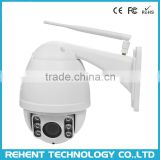 "4x Optical Zoom PTZ 1.3 Megapixel IP Camera 360 Degree Rotating Pan Tilt Zoom Wifi Camera With 1/3"" CMOS Sensor"