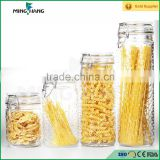 Wholesale glass jars food storage container with flip top cap